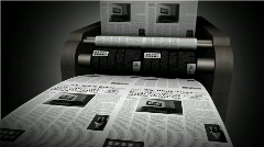 Newspaper press Stock Footage