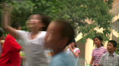 Playing children 2 - stock footage