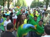 Brazilian Soccer Fans Stock Footage