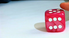 Game dice Stock Footage