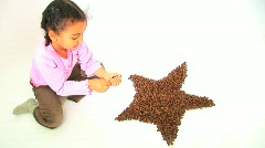 Coffee Beans Star Stock Footage