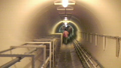 Biosphere2 - Heading down the lung tunnel Stock Footage