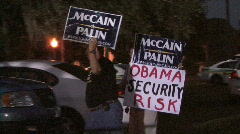McCain Supporters -07 - stock footage