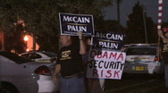 Stock Video Footage of McCain Supporters -07