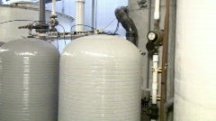 Biosphere2 - Tanks and pipes for control Stock Footage