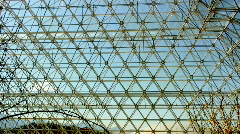 Biosphere2 - Geodesic hexagons Stock Footage
