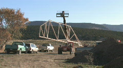 Construction roof truss moving M HD Stock Footage