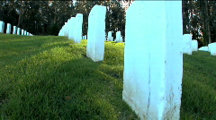 National Cemetery - stock footage