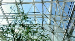 Biosphere2 - A full pan view of the main dome Stock Footage