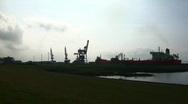 Stock Video Footage of Harbour of Brunsbuettel