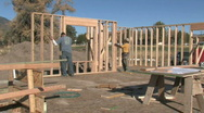 Stock Video Footage of Home construction carpenters building M HD