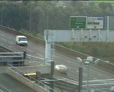 Traffic on bridge to gateshead Stock Footage