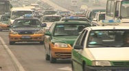 Stock Video Footage of traffic polluted beijing pekin