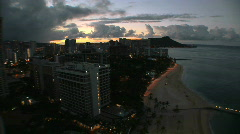 Honolulu, Hawaii Morning Sunrise, time lapse Stock Footage