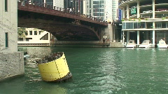 ChicagoRiverBoat1 Stock Footage