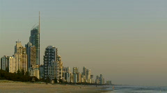 Gold Coast Highrises Time Lapse at Dawn Stock Footage
