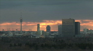 Stock Video Footage of sunset munich city view