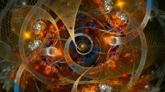 Fractal Galaxy spiral Stock Footage