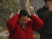 Stock Video Footage of Old people morning exercise in China