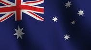 Flag of Australia Stock Footage
