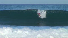 Surfer tubing morning HQ Stock Footage