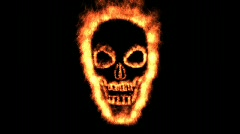 Burning skull ! Stock Footage
