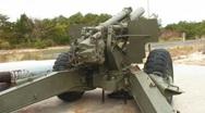 artillery gun 2 redo Stock Footage