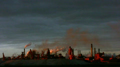 Industrial Pollution At A Hamilton, Ont Steel Mill Stock Footage