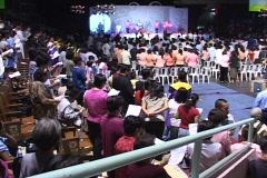 Church Gathering Stock Footage