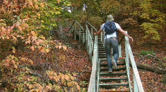 Fall stairs. Stock Footage