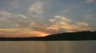 Timelapse Sunset over lake. Stock Footage