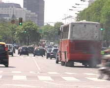 Midday traffic (Buenos Aires) - stock footage