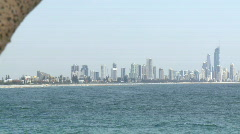 Gold Coast View from Burleigh Heads, Pandanus Stock Footage