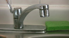 Dripping tap w/water sounds. Stock Footage