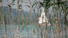 """Boat on the """"Hallwilersee"""" Switzerland Stock Footage"""