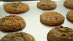 Freshly baked cookies  Stock Footage