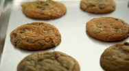 Stock Video Footage of freshly baked cookies