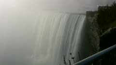 Heavy Spray Misty Niagara Horseshoe Falls Canada Stock Footage