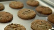Freshly baked cookies  Stock Footage