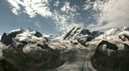 Mountains in the Matterhorn region of Switzerland Stock Footage