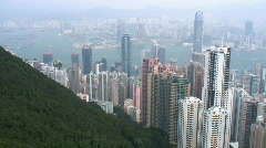Hong Kong skyline Stock Footage