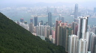 Stock Video Footage of Hong Kong skyline