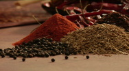 Stock Video Footage of chef picking up mexican spices