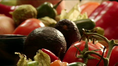 Mexican spices and vegetables Stock Footage