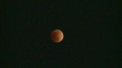 Lunar eclispe, Feb 2008, western Canada #5 Stock Footage
