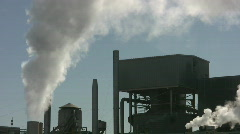 Factory steam. - stock footage