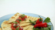 Stock Video Footage of delicious quesadilla