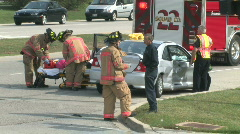 Accident Scene 2 Stock Footage