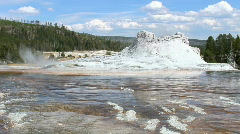 Castle Geyser in Yellowstone - stock footage
