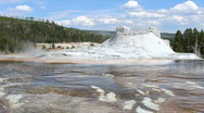 Castle Geyser in Yellowstone Stock Footage